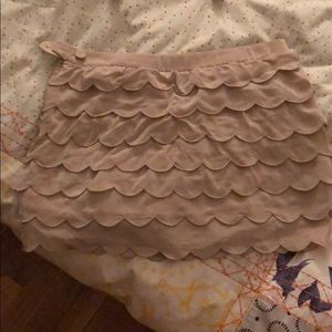 Club Monaco silk skirt with shorts under